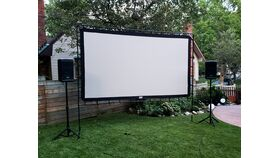 Image of a 12-Foot Rigid Movie Screen