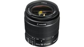 Image of a Canon EF-S 18-55mm Lens