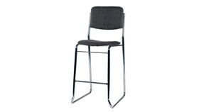 Image of a Bar Stool with Back Rest Grey