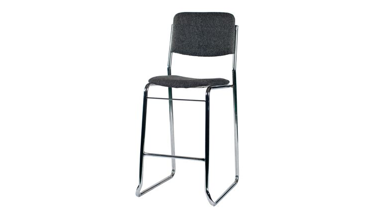 Picture of a Bar Stool with Back Rest Grey