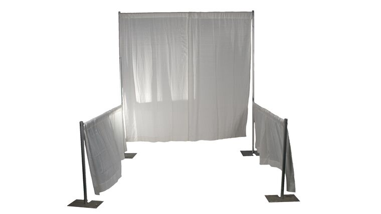 "Picture of a 8' H x 8"" W Trade Show Booth"
