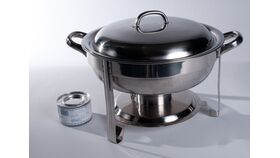 Image of a 4 qt. Round Full Pan Lift Top Chafing Dishes