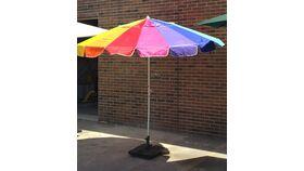Image of a 8' Rainbow Umbrella