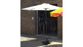 Image of a 9' White Market Umbrella