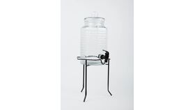 Image of a Beverage Dispenser Glass w/ Stand - 1 Gal