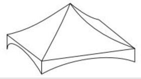 Image of a White 15' X 20' Tentnology 1-Piece Tops B