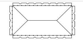 Image of a White 20' X 30' Pole 1-Piece Tops B