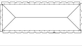 Image of a White 20' X 40' Pole 1-Piece Tops A
