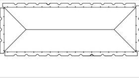 Image of a White 20' X 40' Pole 1-Piece Tops B