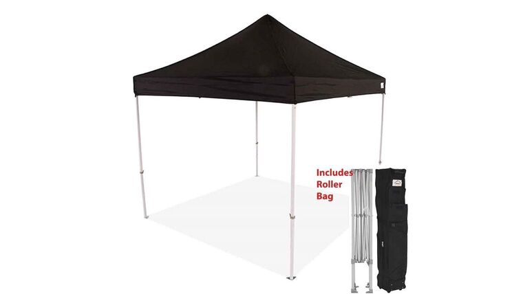 Picture of a 10' x 10' Polyester' Black 1-Piece Tops