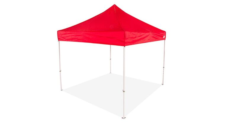 Picture of a 10' x 10' Polyester' Red 1-Piece Tops