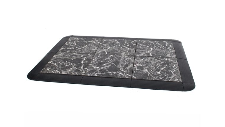 Picture of a 1' x 1' Black Marble Dance Floors