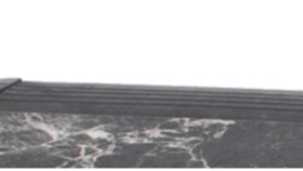 Image of a 1' Black Marble Edging Female