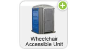 Image of a Blue Standard / Sanitizer Portable Toilets
