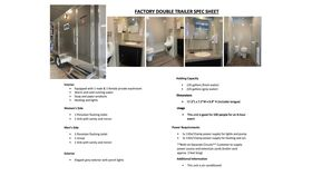 Image of a Factory Double Trailer - Portable Toilets
