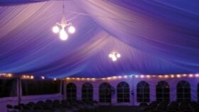 Image of a 30' x 60' Ceiling Liner White
