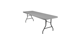 Image of a 8FT Fold In Half Plastic Banquet Folding Table