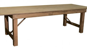 Image of a 9FT Rustic Farm Table