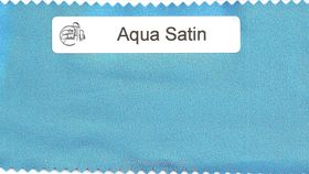 Image of a Aqua Satin Sash