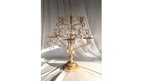 Image of a 18 piece - Gold/crystal candle stand
