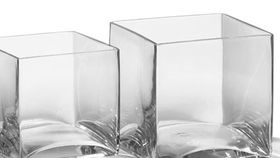 "Image of a 4""x4"" Square Glass Vases"