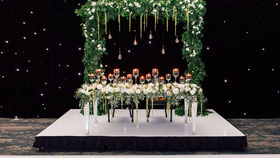 Image of a 20'ft LED Starry Night Draping