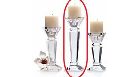 """Image of a 12"""" Shantung Crystal Candle Holder"""