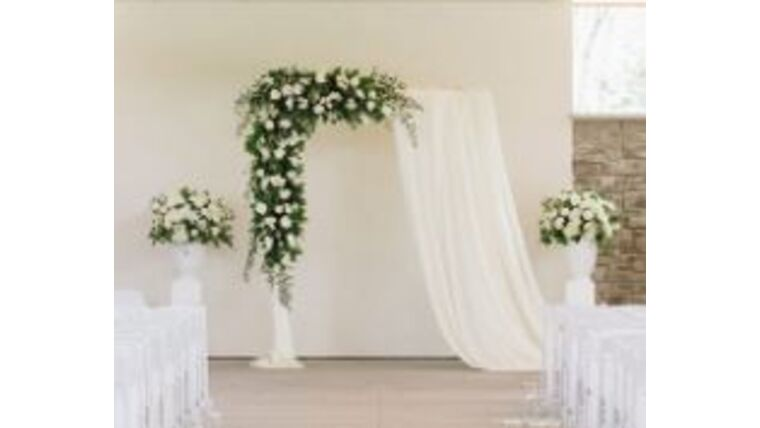 Picture of a 10ft White Rectangle Archway