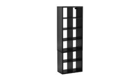 Image of a Black 12-Cubby Kallax Bookcase