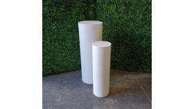 Image of a 07 - White Pedestal Set of 2 - SMALL & MEDIUM