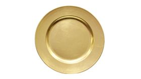 Image of a Acrylic Gold Painted Charger - 13""