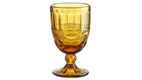 Image of a Amber Goblet, Round Bottom