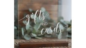 Image of a Acrylic Cards & Gifts Sign
