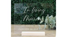 "Image of a Acrylic ""In Loving Memory"" Sign"