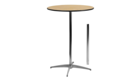 """Image of a 36"""" Cocktail Table """"Bar Hight"""""""