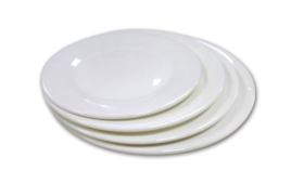 Image of a Salad Plate White Dinnerware