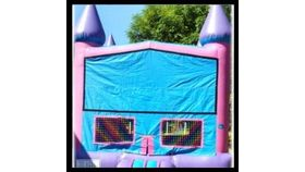 Image of a 13' x 13' Pink Princess Jumper Bounce