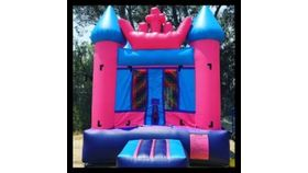 Image of a 11' x 11' Pink Princess Jumper Bounce