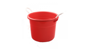 Image of a Red Plastic Tub