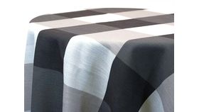 """Image of a 54""""x54"""" Polyester Black & White Gingham Overlays"""