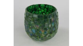 Image of a Glass Mosaic Green Votive