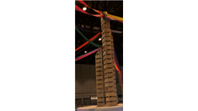 Image of a 12' Slat Wall Bar Column
