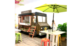 """Image of a Food Truck - """"The Curb Garden"""" Floral Truck & Food Station Facade"""