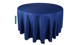 """Image of a 108 """" Round Navy Tablecloth"""