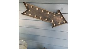 Image of a Marquee - Hanging Light Up Arrow