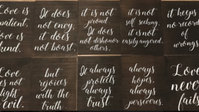 Image of a 1 Corinthians 13 Signs