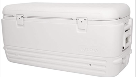 Image of a 120 qt White Cooler