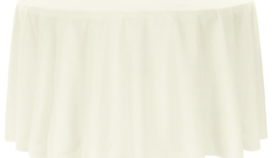 Image of a 108 Round Ivory Tablecloth Laundered