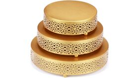Image of a 3 Piece Cake Stand - Gold