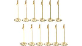 Image of a Gold Sign Holders (table numbers)